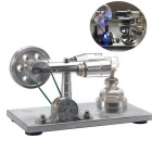 NEJE DIY Metal Hot Air Stirling Engine Motor Model Toy - Silver