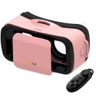 LEJI Mini VR 3D do Google Glasses + Controle Remoto - rosa