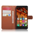 Protective PU Leather Wallet Cases w/ Card Slots for Elephone P9000