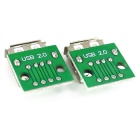 Tipo A USB Female to 2.54mm DIP Adaptador Módulos para BreadPlaca (2PCS)