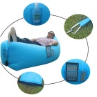 Portable Waterproof Inflatable Sofa Sleeping Bag - Blue