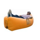 Portable Waterproof Inflatable Sofa Sleeping Bag - Orange