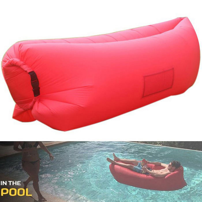 Portable Waterproof Inflatable Sofa Sleeping Bag - Red