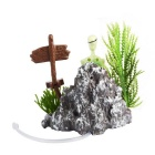 Saim Skeleton Squatting Toilet Style Aquarium Decoration - Green