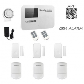 GSM Wireless Smart Alarm Systems - White (US Plugs)