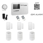 GSM Wireless Smart Alarm Systems - White (UK Plug)