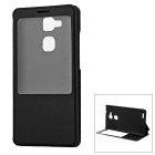 Flip Open Full Body Case w/ Visual Window for Huawei Mate 7 - Black