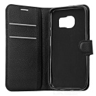 Lychee Pattern Flip-Open PU Case for Samsung Galaxy S7 - Black