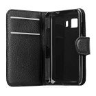 Lychee Pattern Flip-Open Case for Samsung Galaxy Young 2 G130H - Black