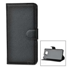 Lychee Pattern Flip-Open Case for Samsung GALAXY Alpha G850F - Black