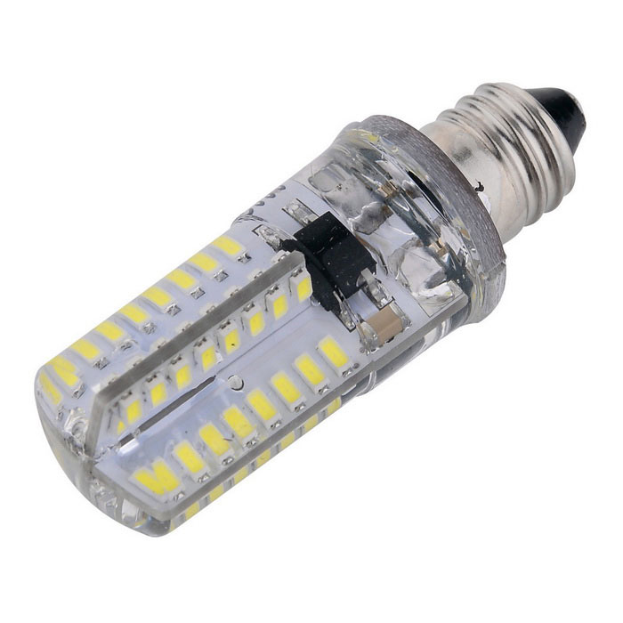 Crépuscule E11 blanc froid 64-3014 SMD LED ampoule dimmable (110 ~ 130V)