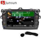 "Junsun 8"" Android 4.4 Car Radio Player + Europe Map - Black"
