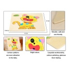 Cat Shaped Puzzle Wooden Blocks Cartoon Toy - Yellow