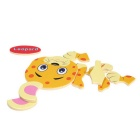 Leopard Shaped Puzzle Wooden Blocks Cartoon Toy - Yellow