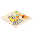Rooter formet Puzzle tre blokker Cartoon Toy - Gul