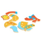Horse Shaped Puzzle Wooden Blocks Cartoon Toy - Yellow