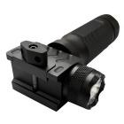 Univernal 20 milímetros ferroviário Tactical Fore End Grip w / Flash & Red Laser-Black