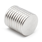 D18 * 2mm Circular Strong Magnet - Silver (10PCS)