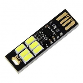 3W 200lm Cold White Light Dimming USB 6-LED Module w/Touch Switch (5V)