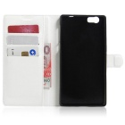 PU Leather Wallet Cases w/ Card Slots for Elephone M2 - White