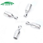 Auto Gas Nozzle Cap Tire Valve Caps Leak Proof Cap - Silver