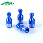 Auto Gas Nozzle Cap Tire Valve Caps Leak Proof Cap - Blue