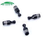 Auto Gas Nozzle Cap Tire Valve Caps Leak Proof Cap - Black