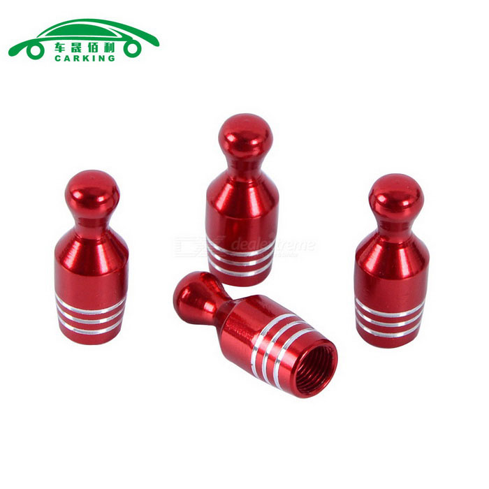 Auto Gas Nozzle Cap Tire Valve Caps Leak Proof Cap - Red