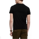 J1092 3D Printing Round-Neck Sweat Absorption T-shirt - Black (M)