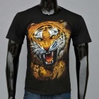 Outdoor Padrão Sports 3D Tiger Cotton T-shirt de manga curta (XXL)