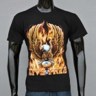 Outdoor Padrão Sports 3D Golden Eagle Cotton T-shirt de manga curta (XL)