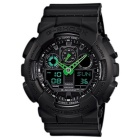 Casio G-Shock GA-100C-1A3 Mens Watch - Black & Green