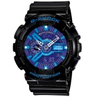 mens CASIO G-SHOCK GA-110HC-1A watch - blu e viola e nero