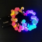 IN-Color Solar Powered 2V 50-LED Ball-Shaped String Colorful Light