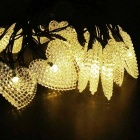 IN-Color Solar Powered 1W 2V 20-LED 10lm Heart-Shaped String Light
