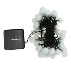 IN-Color Solar Powered 2V 50-LED Ball-Shaped String Warm White Light