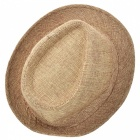 Trendy Casual Cotton Flax Billycock / Fedora Hat - Khaki