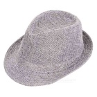 Trendy Casual Cotton Flax Billycock / Fedora Hat - Grey