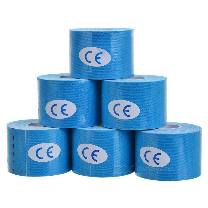 Cotton Muscle Physiotherapy Stickers - Blue (500cm / 6PCS)