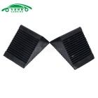 Plastic Antislip Car Auto Wheel Tire Chock Stop Blocks - Preto (Par)