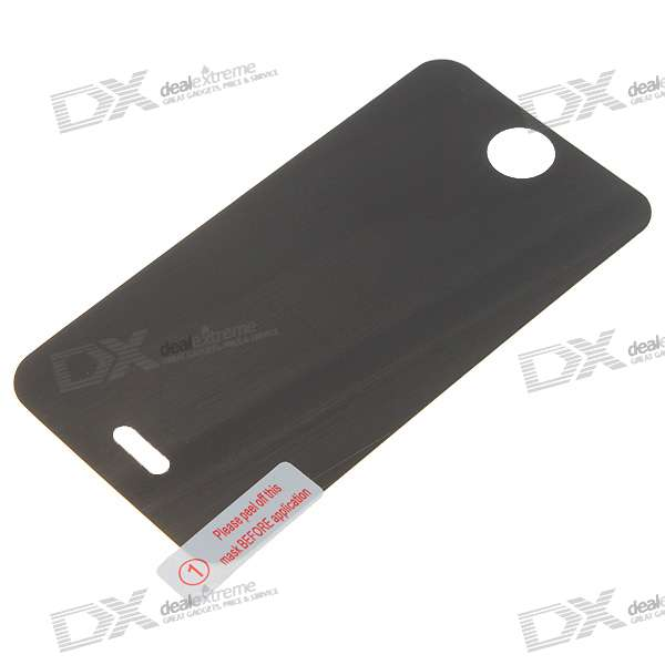 180 Degree Privacy Screen Protector with Cleaning Cloth for Iphone 4 - Black Transparent