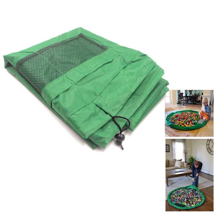 1.5m Portable Kids Toys Storage Organizer Bag Play Mat Rug Box - GreenStorage Box &amp; Bag <br>Form  ColorGreenShade Of ColorGreenMaterialPolyester fiberQuantity1 DX.PCM.Model.AttributeModel.UnitPacking List1 * Storage bag<br>