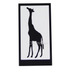 Hat-Prince Giraffe Pattern Removable Skin Sticker for IPAD - Black
