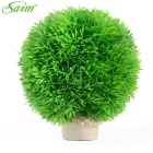 Saim Decoration Spherical Shaped Aquarium Plant-Verde