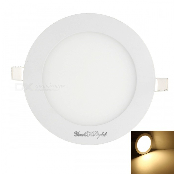 YouOKLight 5W 25-SMD Warm White Light LED Round Panel Light - White