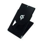 Q11 QI Wireless Charger Pad w/ Support for Smart Phone - Black
