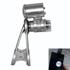 Clip-on Microscope w/ UV Light for Smartphones - Silver