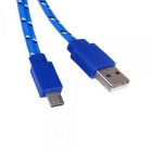 Micro USB Data Sync / Charging Cable for Samsung + More -  Blue (2m)