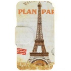 Kinston® Paris Tower Pattern PU Leather for iPhone SE/5/5S