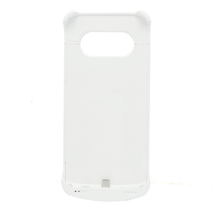 4200mAh Li-Polymer Battery Back Case w/ Stand for Samsung S7 - White